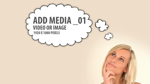 Media Thought Bubbles (4) After Effects Template
