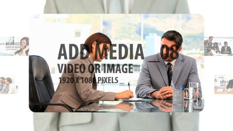 Zooming Media Panels After Effects Template