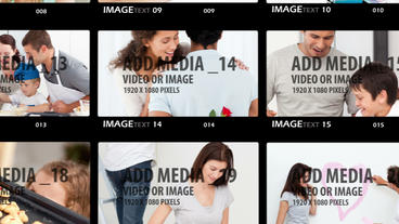 Touch Contact Sheet After Effects Template