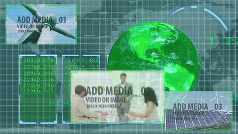 Green Global Markets animation After Effects Template