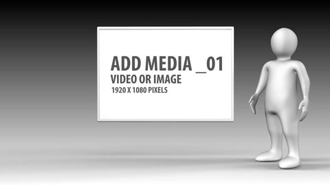 3D figures presentation After Effects Template