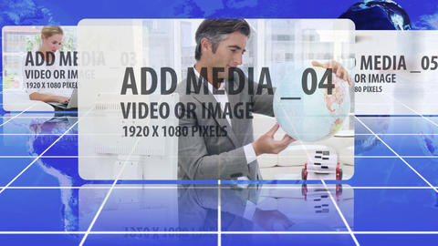 Global media carousel After Effects Template