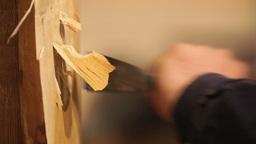 Manufacturing Italian Wood Sculpture Footage