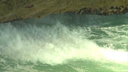 HD2009-4-8-19 waves crashing slo mo Stock Video Footage