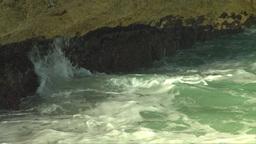 HD2009-4-8-21 waves crashing slo mo Stock Video Footage
