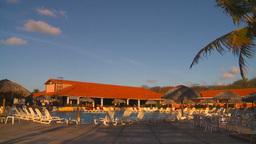 HD2009-4-9-2 resort pool Stock Video Footage