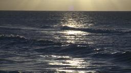 HD2009-4-9-14 sunset surf Stock Video Footage
