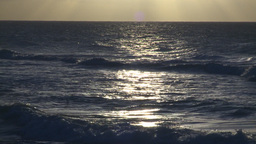 HD2009-4-9-14 sunset surf Stock Video Footage