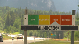 HD2009-8-1-1 forest fire signand fire montage VIP Footage