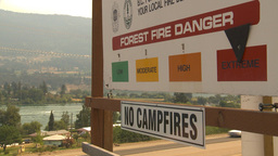 HD2009-8-1-1 forest fire signand fire montage VIP Stock Video Footage