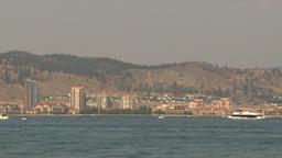 HD2009-8-1-7 Kelowna skyline and lake Stock Video Footage
