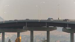 HD2009-8-1-9 Kelowna traffic on big bridge Stock Video Footage