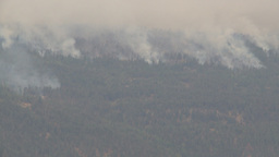 HD2009-8-1-17 Terr mtn forest fire x3 Stock Video Footage