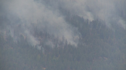 HD2009-8-1-19 Terr mtn forest fire x3 Stock Video Footage