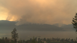 HD2009-8-1-23 Terr mtn forest fire Stock Video Footage