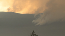 HD2009-8-1b-2 forest fire from across lake Stock Video Footage