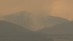HD2009-8-1b-4 forest fire from across lake Stock Video Footage