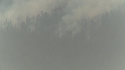 HD2009-8-1b-10 forest fire Erickson S64 helicopter drop... Stock Video Footage
