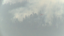 HD2009-8-1b-14 forest fire Erickson S64 helicopter drop... Stock Video Footage
