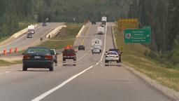 HD2009-8-1b-24 police car speeder highway Stock Video Footage