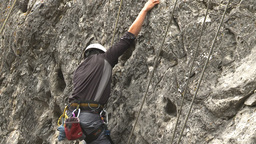HD2009-8-2-1 rockclimbing x4 Stock Video Footage