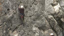 HD2009-8-2-3 rockclimbing Stock Video Footage