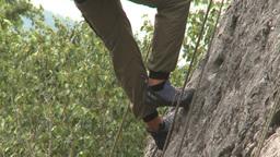 HD2009-8-3-2 rock climbing Stock Video Footage