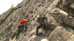 HD2009-8-4-11 rock climbing Stock Video Footage