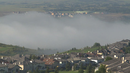 HD2009-8-5-3 fog and homes Stock Video Footage