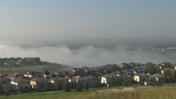 HD2009-8-5-5 fog and homes Stock Video Footage