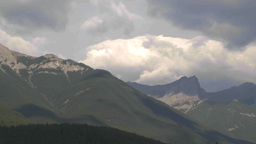 HD2009-8-5-13 clouds over mountains TL Footage