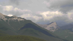 HD2009-8-5-13 clouds over mountains TL Stock Video Footage