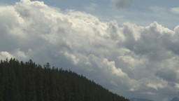 HD2009-8-8-4 clouds and forest TL Stock Video Footage