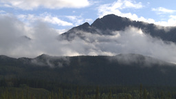 HD2009-8-8-8 clouds and mtns Stock Video Footage