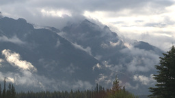 HD2009-8-8-10 clouds and mtns Stock Video Footage
