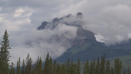 HD2009-8-8-12 clouds and mtns Castle Mtn TL Stock Video Footage