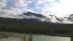 HD2009-8-8-14 clouds and mtns Stock Video Footage