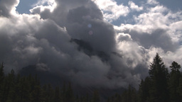 HD2009-8-8-16 heavy clouds and mtns TL remarkable Stock Video Footage