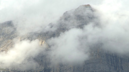HD2009-8-8-20 clouds and mtns TL Stock Video Footage
