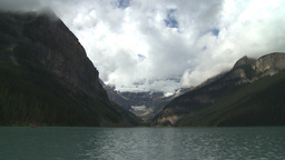 HD2009-8-8-22 Lake Louise with clouds Stock Video Footage