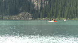 HD2009-8-8-24 canoes Lake Louise Stock Video Footage