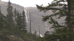HD2009-8-10-6 wall and waterfalls Stock Video Footage