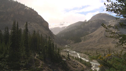 HD2009-8-10-8 glacial valley and rain Stock Video Footage