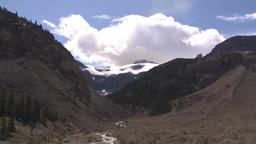 HD2009-8-10-20 cloudscape glacier TL Stock Video Footage
