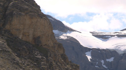 HD2009-8-10-22 glacier valley pan Stock Video Footage