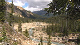 HD2009-8-10-24 river valley mountains Stock Video Footage