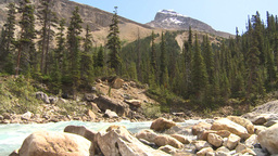 HD2009-8-10-26 river valley mountains low angle Stock Video Footage
