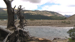 HD209-8-11-1 river and mountain valley Stock Video Footage