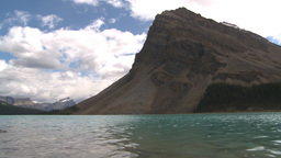 HD209-8-11-5 Bow lake and mountain Stock Video Footage