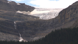 HD209-8-11-7 glacier and waterfall Stock Video Footage
